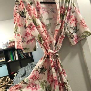 Show Me Your Mumu Kimono Robe floral print OS